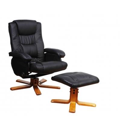 massagesessel mit hocker relaxsessel. Black Bedroom Furniture Sets. Home Design Ideas