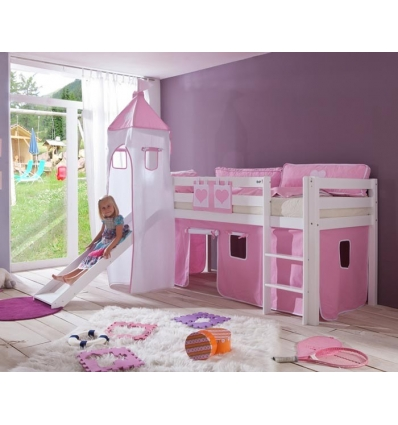 prinzessin hochbett amazing rutschbett hochbett spielbett mit rutsche vorhang tunnel turm. Black Bedroom Furniture Sets. Home Design Ideas