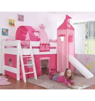 kinder hochbett finest mit stauraum wei rosa pharao with. Black Bedroom Furniture Sets. Home Design Ideas