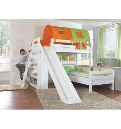 etagenbett mit rustche im winkel. Black Bedroom Furniture Sets. Home Design Ideas