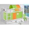 Zubehör etagenbett für jungs grün-orange