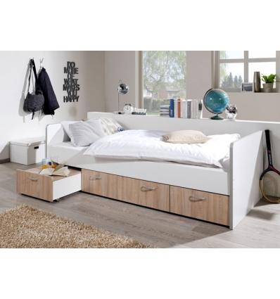 Einzelbett mit schubladen  mit Schubladen