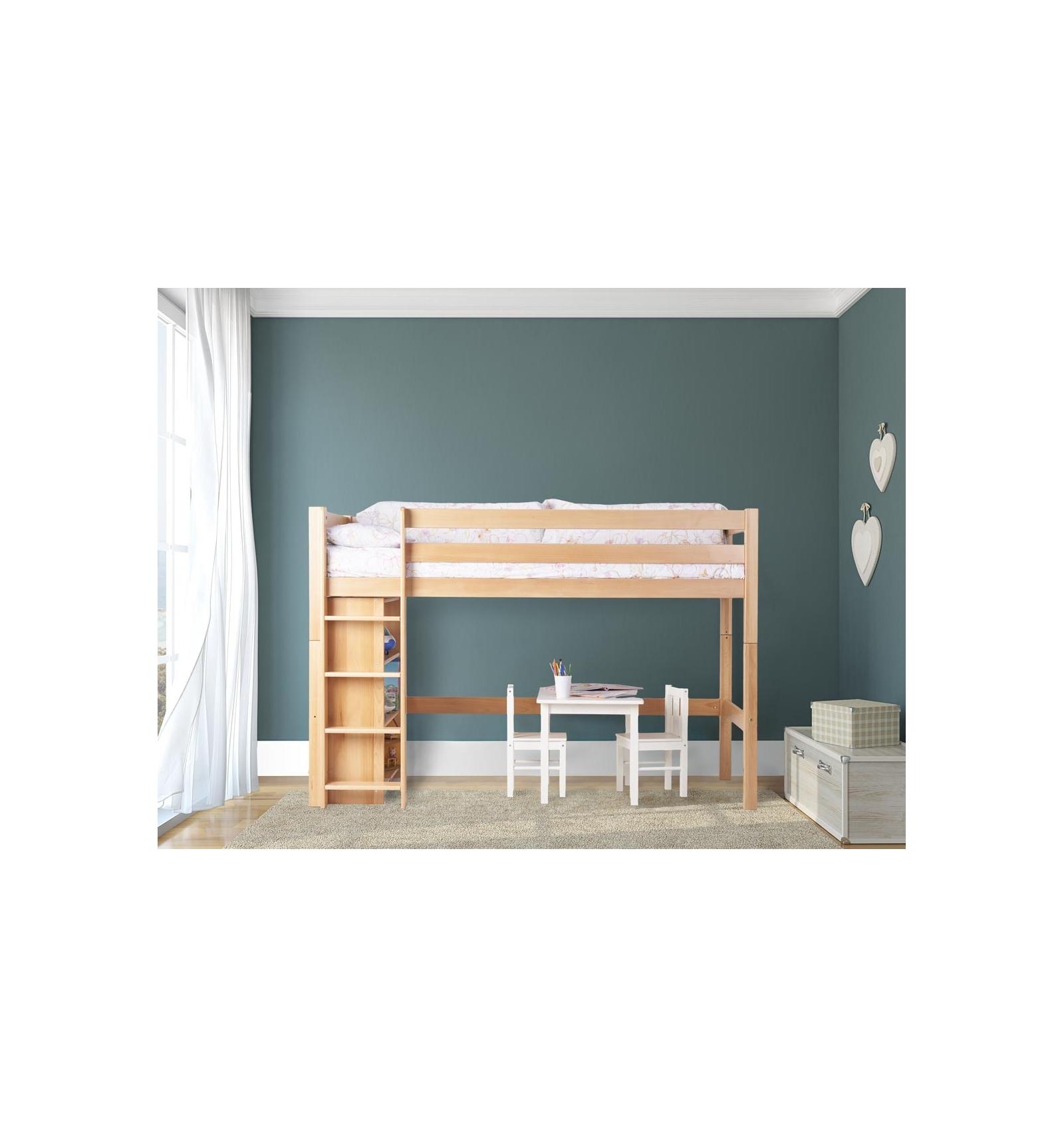 hochbett mit regal. Black Bedroom Furniture Sets. Home Design Ideas