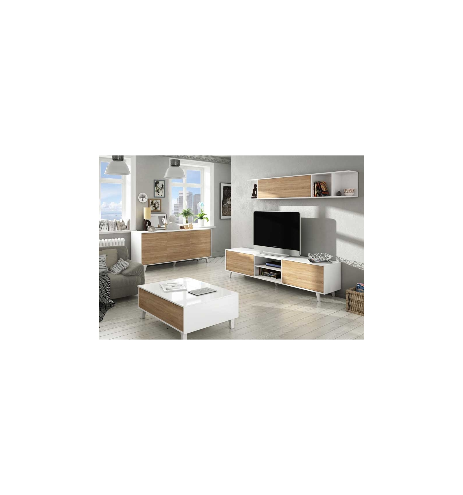 tv m bel im nordic style emori. Black Bedroom Furniture Sets. Home Design Ideas