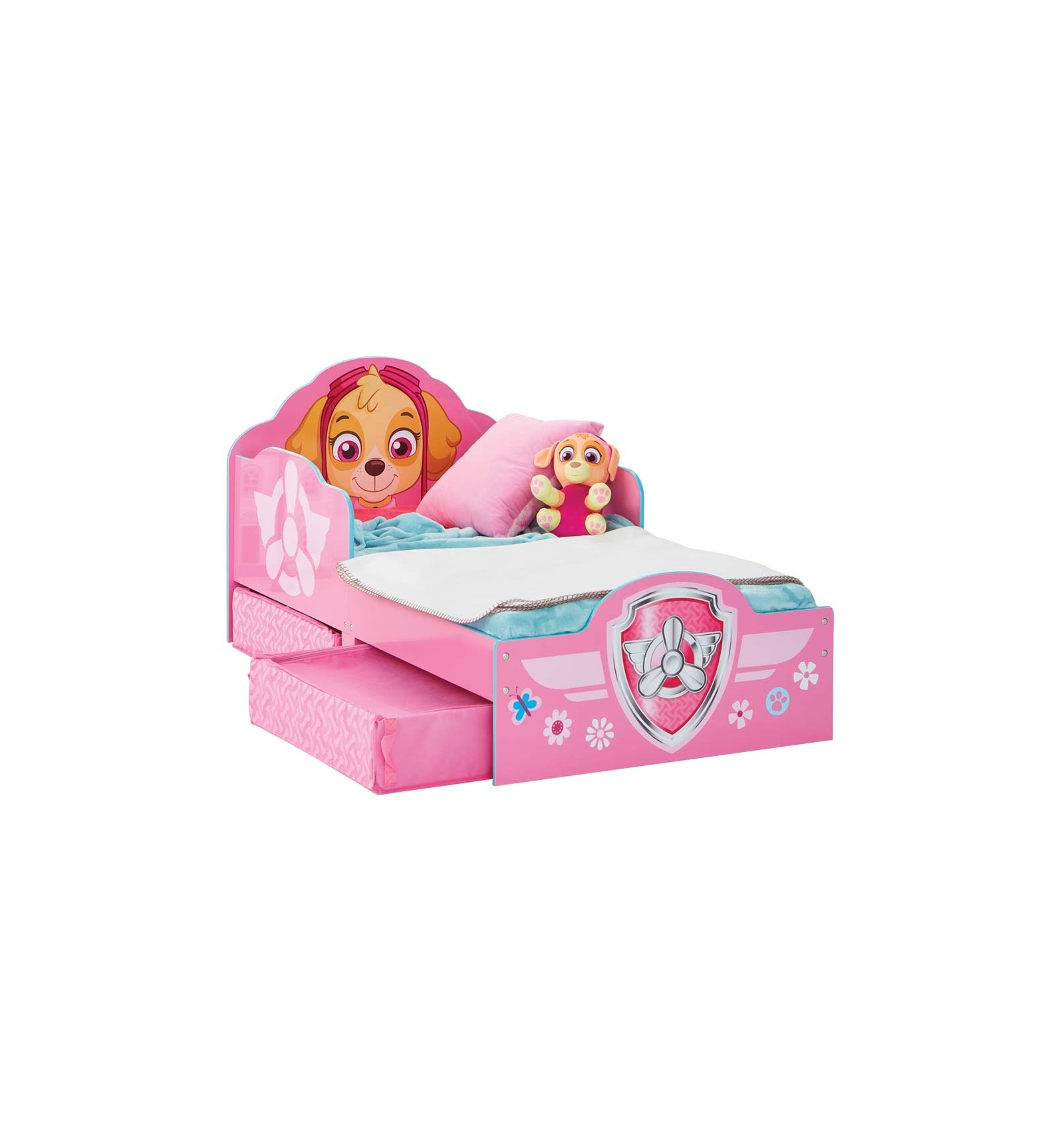 kinderbett mit schubladen skye paw patrol. Black Bedroom Furniture Sets. Home Design Ideas