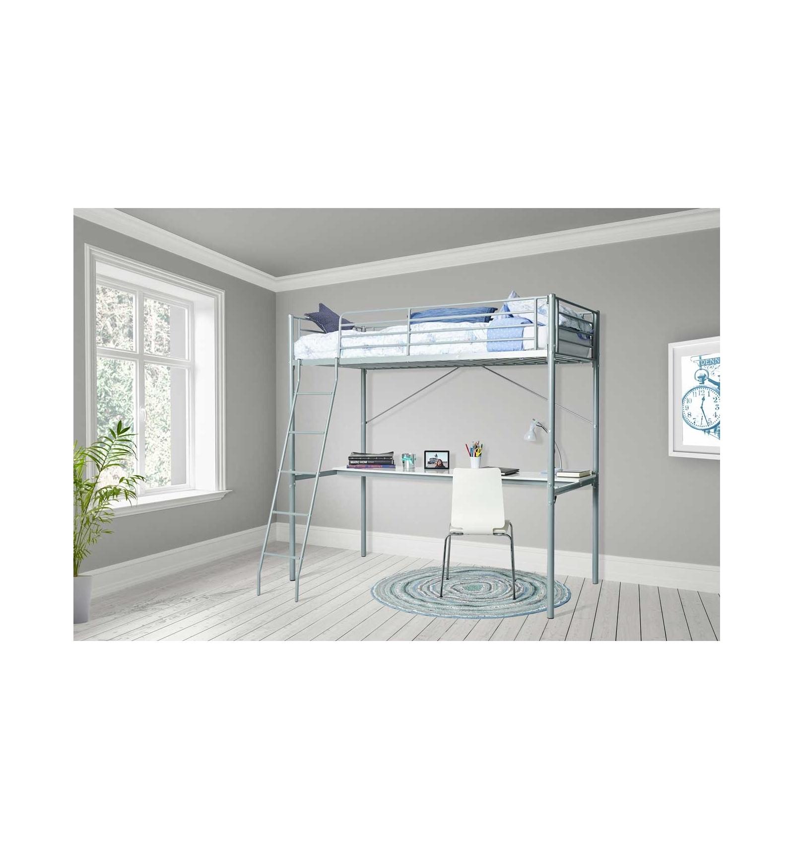 hochbett mit schreibtisch leo. Black Bedroom Furniture Sets. Home Design Ideas