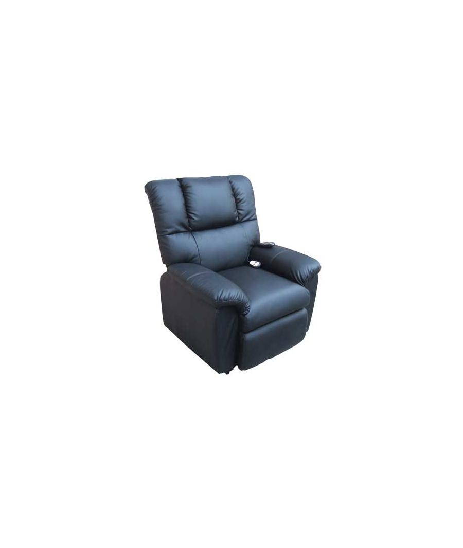 Elektrischer fernsehsessel mit aufstehhilfe schwarz shanon for Sessel mit aufstehhilfe