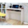Schreibtisch mit unterem Regal