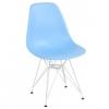 Hellblauer Stuhl