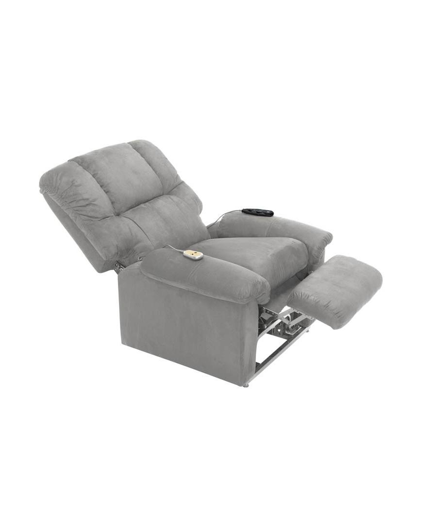 fernsehsessel elektrische grau shanon. Black Bedroom Furniture Sets. Home Design Ideas